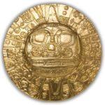 2021 Palau 1 oz Silver Inca Sun God Gold Gilt Coin
