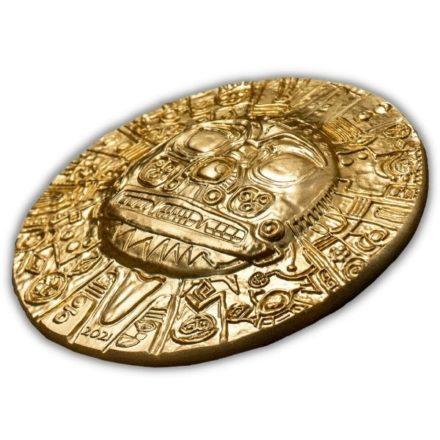 2021 Palau 1 oz Silver Inca Sun God Gold Gilt High Relief