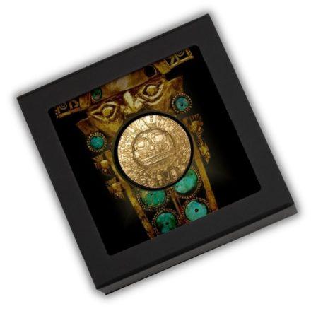 2021 Palau 1 oz Silver Inca Sun God Gold Gilt Packaging