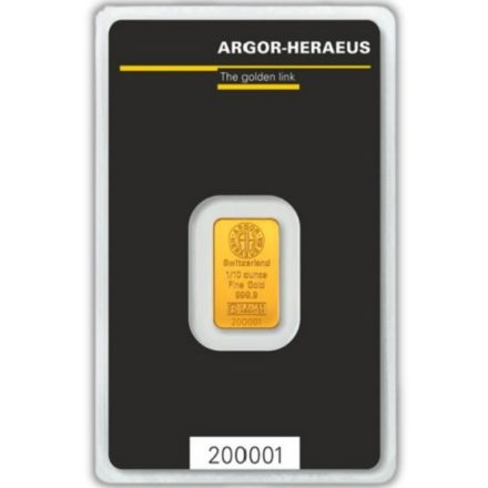 Argor-Heraeus 1/10 oz Gold Bar obverse
