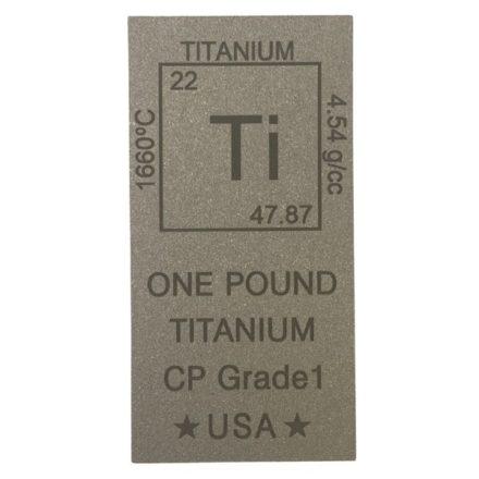 Elemental 1 Pound Titanium Bar