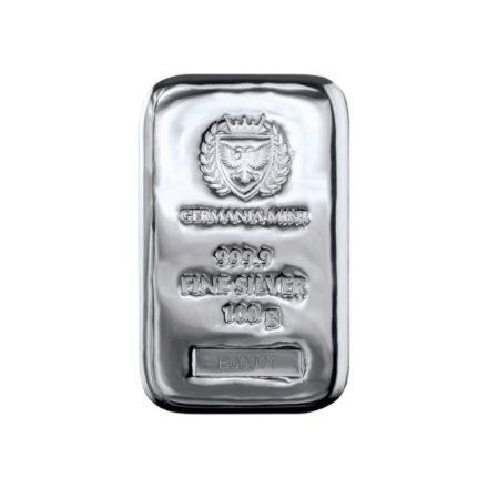 Germania Mint 100 gram Silver Bar