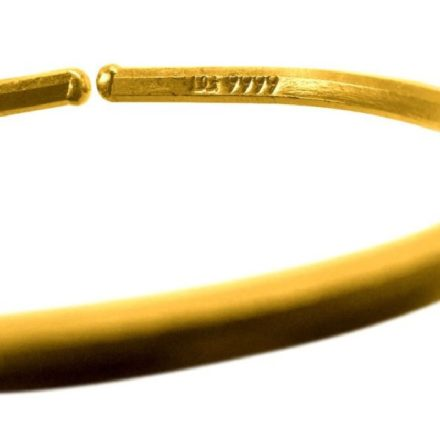 Smooth 1 oz Gold Bullion Bracelet in CertiCard