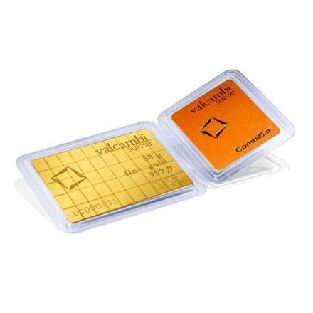 Valcambi 50 x 1 gram Gold CombiBar™ Open