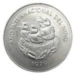 1979 Costa Rica 100 Colones Silver Coin