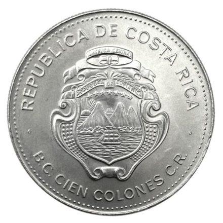 1979 Costa Rica 100 Colones Silver Coin Reverse