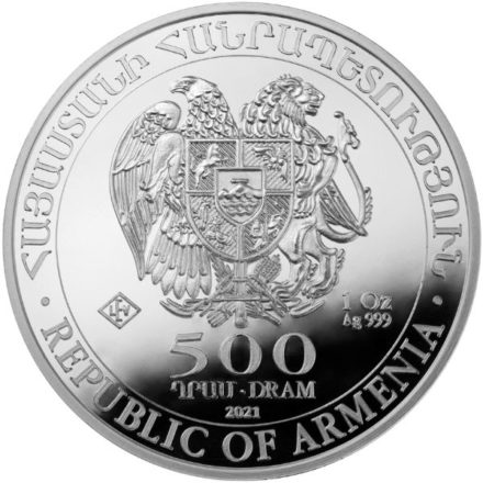 2021 1 oz Armenia Noah's Ark Silver Coin Reverse