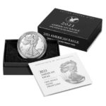 2021 1 oz Proof American Silver Eagle Type 2 With Packaging