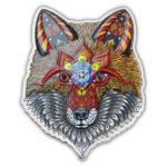 2021 Solomon Islands 1 oz Silver Electric Fox