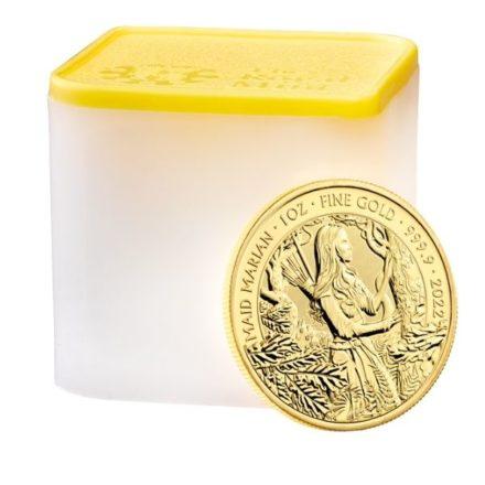 2022 1 oz British Maid Marian Gold Coin Tube