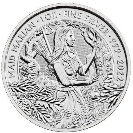 2022 1 oz British Maid Marian Silver Coin