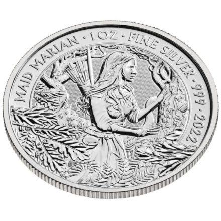 2022 1 oz British Maid Marian Silver Coin Angle