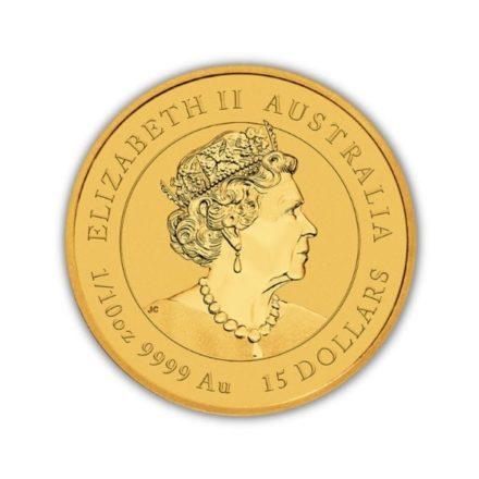2022 1/10 oz Australian Gold Lunar Tiger Effigy
