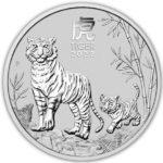 2022 Australian 2 oz Silver Lunar Tiger