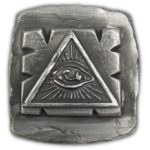 All Seeing Eye Poured 1 oz Silver Square