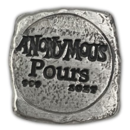 All Seeing Eye Poured 1 oz Silver Square Reverse