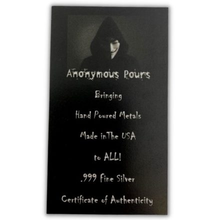 Anonymous Pours Certificate of Authenticity