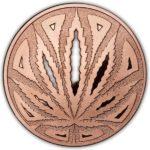 Cannabis The Big Leaf 1 oz Copper Round