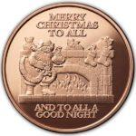 Christmas Eve 1 oz Copper Round