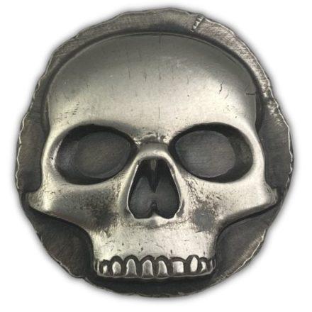 Half Skull Poured 1 oz Silver Round