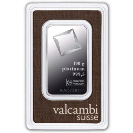 Valcambi 100 gram Platinum Bar