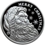 2021 Proof Santa 1 oz Silver Round with Box Obverse