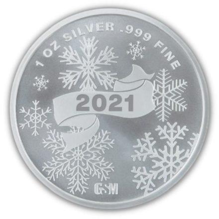 2021 Santa 1 oz Silver Round Reverse