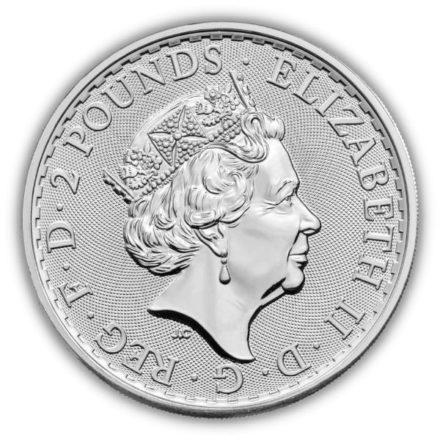 2022 British 1 oz Silver Britannia Coin Effigy