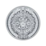 Aztec Calendar 1/10 oz Silver Round Obverse